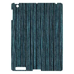 Stylish Frost Blue Strips Apple Ipad 3/4 Hardshell Case by gatterwe