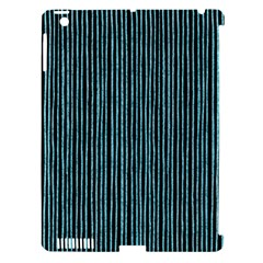 Stylish Frost Blue Strips Apple Ipad 3/4 Hardshell Case (compatible With Smart Cover) by gatterwe