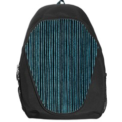 Stylish Frost Blue Strips Backpack Bag by gatterwe