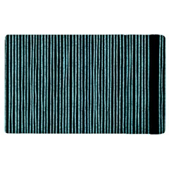Stylish Frost Blue Strips Apple Ipad 2 Flip Case by gatterwe