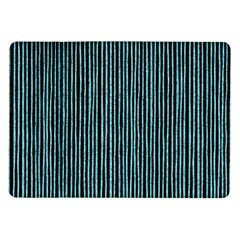 Stylish Frost Blue Strips Samsung Galaxy Tab 10 1  P7500 Flip Case by gatterwe