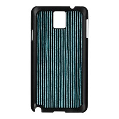 Stylish Frost Blue Strips Samsung Galaxy Note 3 N9005 Case (black) by gatterwe