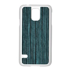 Stylish Frost Blue Strips Samsung Galaxy S5 Case (white) by gatterwe