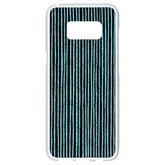 Stylish Frost Blue Strips Samsung Galaxy S8 White Seamless Case by gatterwe