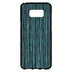 Stylish Frost Blue Strips Samsung Galaxy S8 Plus Black Seamless Case by gatterwe