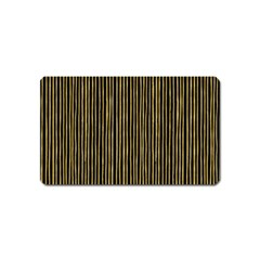 Stylish Golden Strips Magnet (name Card) by gatterwe