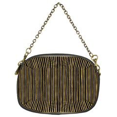 Stylish Golden Strips Chain Purses (one Side)  by gatterwe