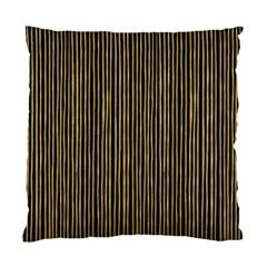 Stylish Golden Strips Standard Cushion Case (two Sides) by gatterwe