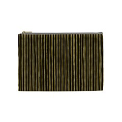Stylish Golden Strips Cosmetic Bag (medium)  by gatterwe