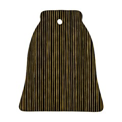 Stylish Golden Strips Ornament (bell) by gatterwe