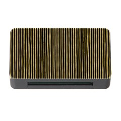 Stylish Golden Strips Memory Card Reader With Cf by gatterwe