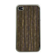 Stylish Golden Strips Apple Iphone 4 Case (clear) by gatterwe