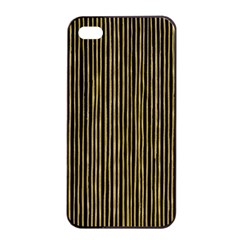 Stylish Golden Strips Apple Iphone 4/4s Seamless Case (black) by gatterwe