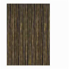 Stylish Golden Strips Small Garden Flag (two Sides) by gatterwe