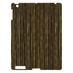 Stylish Golden Strips Apple Ipad 3/4 Hardshell Case by gatterwe