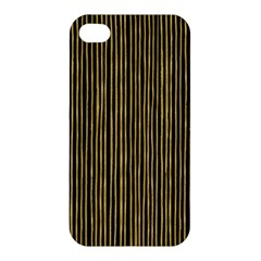 Stylish Golden Strips Apple Iphone 4/4s Premium Hardshell Case by gatterwe
