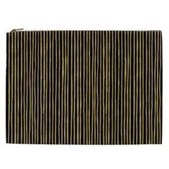 Stylish Golden Strips Cosmetic Bag (xxl)  by gatterwe