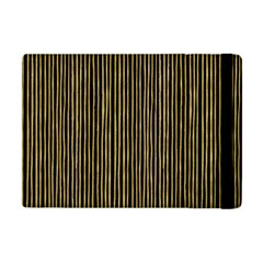 Stylish Golden Strips Apple Ipad Mini Flip Case by gatterwe