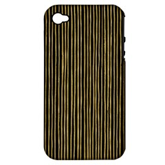 Stylish Golden Strips Apple Iphone 4/4s Hardshell Case (pc+silicone) by gatterwe