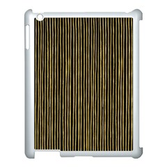 Stylish Golden Strips Apple Ipad 3/4 Case (white) by gatterwe