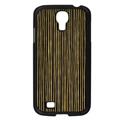 Stylish Golden Strips Samsung Galaxy S4 I9500/ I9505 Case (black) by gatterwe