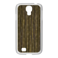 Stylish Golden Strips Samsung Galaxy S4 I9500/ I9505 Case (white) by gatterwe