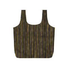 Stylish Golden Strips Full Print Recycle Bags (s)  by gatterwe