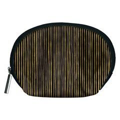 Stylish Golden Strips Accessory Pouches (medium)  by gatterwe