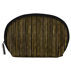 Stylish Golden Strips Accessory Pouches (large)  by gatterwe