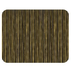 Stylish Golden Strips Double Sided Flano Blanket (medium)  by gatterwe