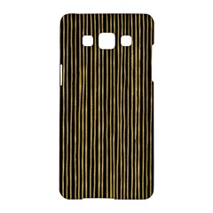 Stylish Golden Strips Samsung Galaxy A5 Hardshell Case  by gatterwe
