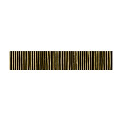 Stylish Golden Strips Flano Scarf (mini) by gatterwe