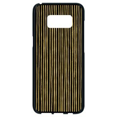 Stylish Golden Strips Samsung Galaxy S8 Black Seamless Case by gatterwe
