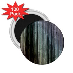 Stylish Rainbow Strips 2 25  Magnets (100 Pack)  by gatterwe