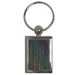Stylish Rainbow Strips Key Chains (rectangle)  by gatterwe
