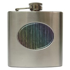 Stylish Rainbow Strips Hip Flask (6 Oz) by gatterwe