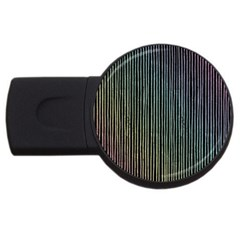 Stylish Rainbow Strips Usb Flash Drive Round (2 Gb) by gatterwe