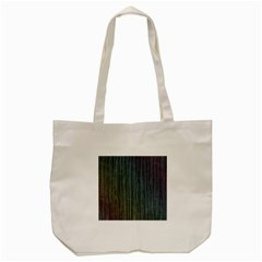 Stylish Rainbow Strips Tote Bag (cream) by gatterwe