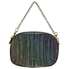 Stylish Rainbow Strips Chain Purses (one Side)  by gatterwe