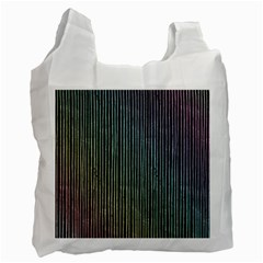 Stylish Rainbow Strips Recycle Bag (one Side) by gatterwe