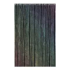 Stylish Rainbow Strips Shower Curtain 48  X 72  (small)  by gatterwe