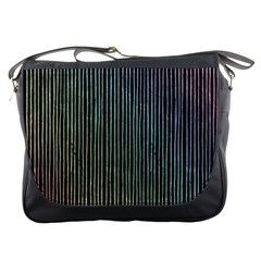Stylish Rainbow Strips Messenger Bags by gatterwe