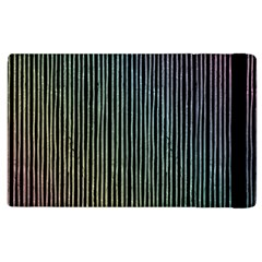 Stylish Rainbow Strips Apple Ipad 3/4 Flip Case by gatterwe