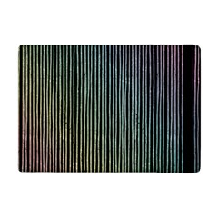 Stylish Rainbow Strips Apple Ipad Mini Flip Case by gatterwe