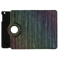 Stylish Rainbow Strips Apple Ipad Mini Flip 360 Case by gatterwe