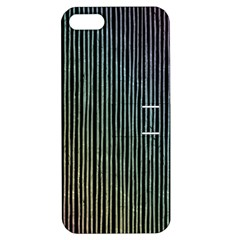 Stylish Rainbow Strips Apple Iphone 5 Hardshell Case With Stand by gatterwe