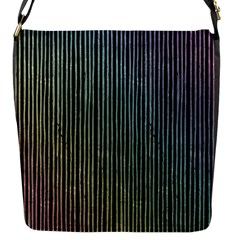 Stylish Rainbow Strips Flap Messenger Bag (s) by gatterwe