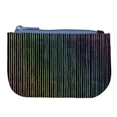 Stylish Rainbow Strips Large Coin Purse by gatterwe