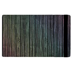 Stylish Rainbow Strips Apple Ipad Pro 12 9   Flip Case by gatterwe