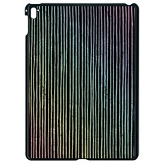 Stylish Rainbow Strips Apple Ipad Pro 9 7   Black Seamless Case by gatterwe